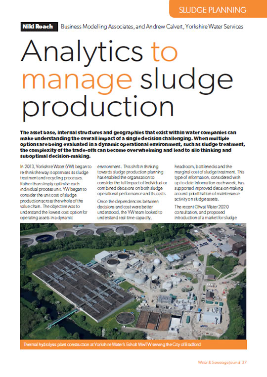 Analytics To Manage Sludge Production White Paper