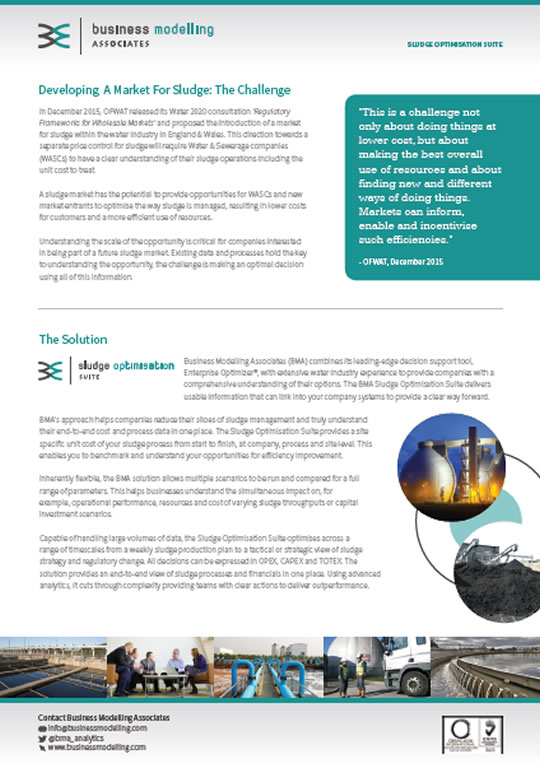 Developing A Market For Sludge White Paper
