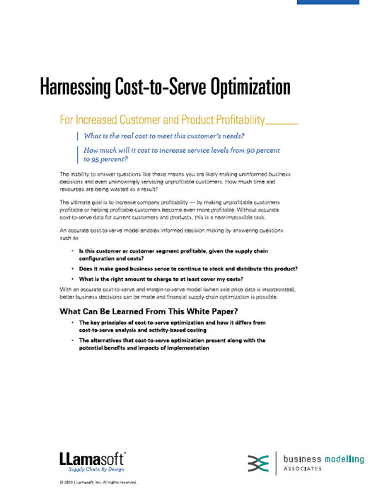Harnessing Cost-to-Serve Optimisation White Paper