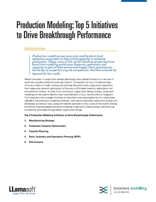 Production Modeling: Top 5 Initiatives to Drive Breakthrough Performance White Paper