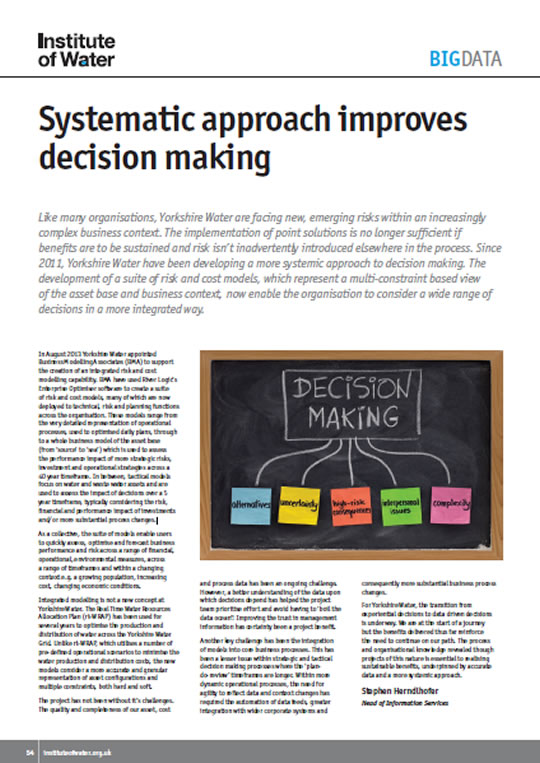 Systematic Approach Improves Decision Making White Paper